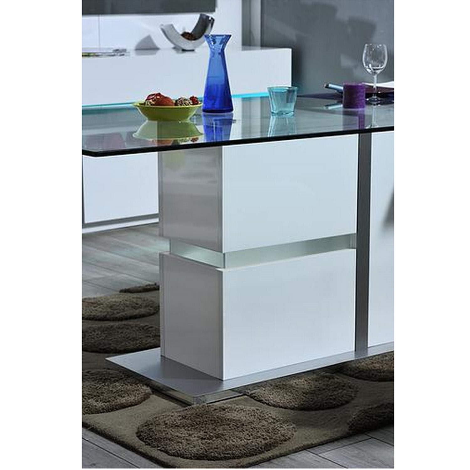 Sciae Cross 36 Glass Top Dining Table with LED Lit Base  : 14SL27322supersize from furniture123.co.uk size 700 x 700 jpeg 65kB