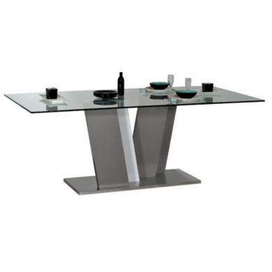 Sciae Cross 36 Glass Top Table in High Gloss White
