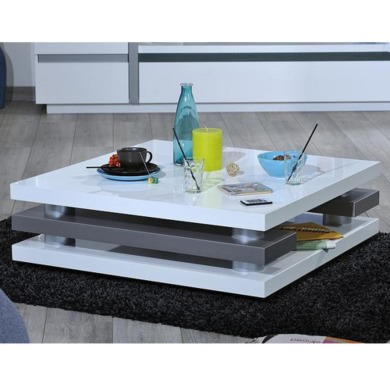 Sciae Cross 36 White coffee table