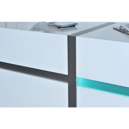 Sciae Cross 36 2 Door Display Cabinet in High Gloss White