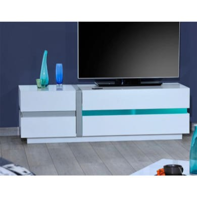 Sciae Cross 36 TV hi-fi cabinet in white