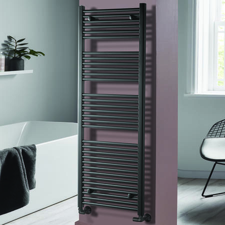 Pisa Anthracite Heated Towel Rail 1600 x 600mm
