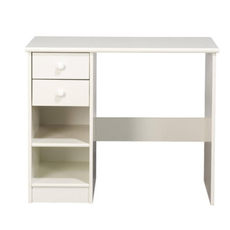 Furniture to go kids world 2 drawer desk in white for Furniture 2 go