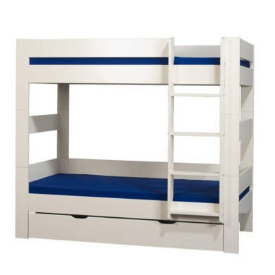Furniture To Go Kids World Bunk Bed in White with Drawer