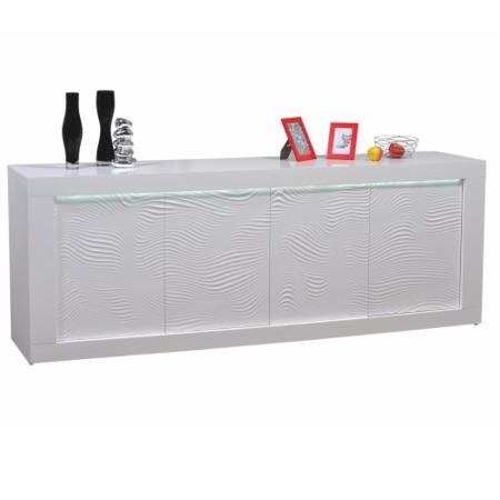 Sciae Karma 4 Door Sideboard in White High Gloss