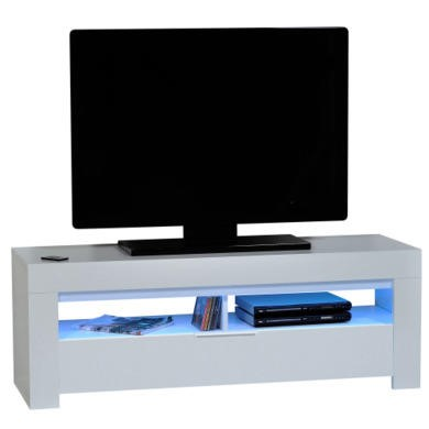 Sciae Galaxy TV Unit in High Gloss White with RGB Lighting