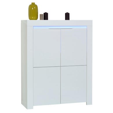 Sciae Galaxy Storage Unit in White High Gloss with RGB Lighting