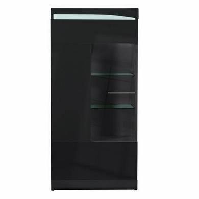 Sciae ovio black gloss display cabinet 50cm wide with 1 for Kitchen cabinets 50cm wide