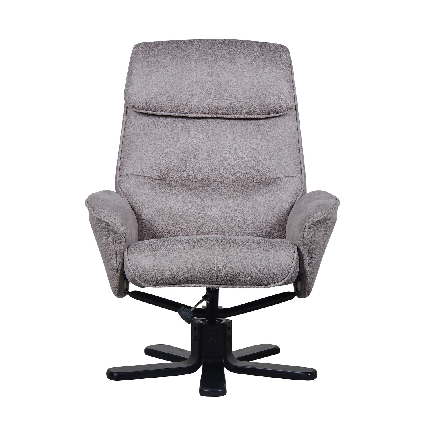 Fabulous Amalfi Swivel Recliner And Footstool In Grey Faux Suede Pabps2019 Chair Design Images Pabps2019Com