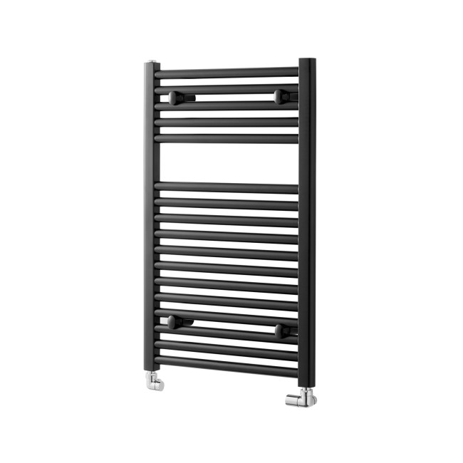 Pisa Black Heated Towel Rail - 800 x 600mm