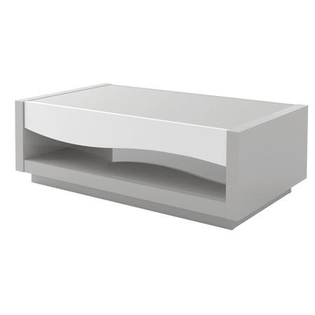 Scaie Flam White and Grey High Gloss Coffee Table