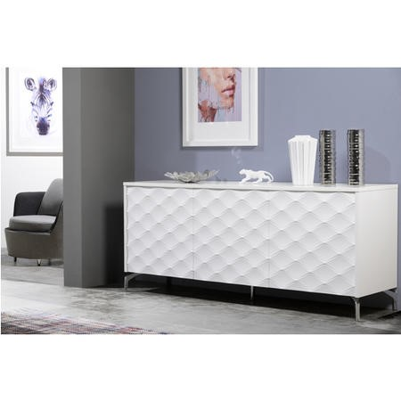 Blake High Gloss White Textured 3 Door Sideboard