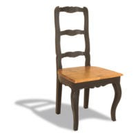 GRADE A1 - Signature North French Chic Ladder Back Dining Chair - antique black