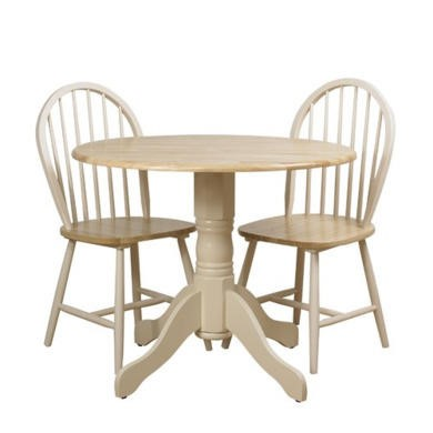 Origin Red Lingfield Dining Table and 2 Chairs In Natural and Cream