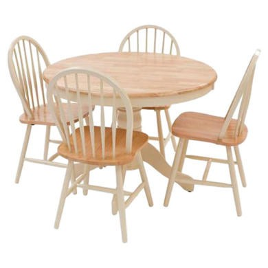 Origin Red York Round Dining Set in Natural and Ivory