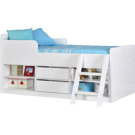 Seconique Felix Low Sleeper Bed in White