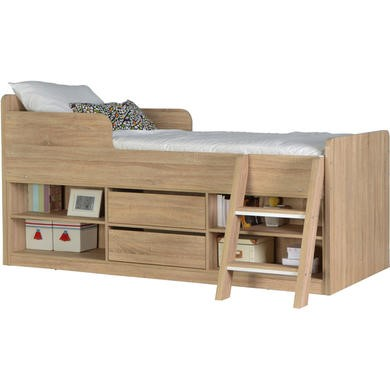 Seconique felix low sleeper bed in sonoma oak effect for Furniture 123 cabin bed