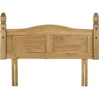 Seconique Corona 4'6 Inch  Headboard in Distressed Waxed Pine