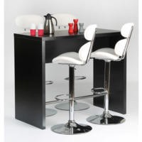 GRADE A2 - Furniture To Go Designa Tall Kitchen/Bar Table In Black Ash