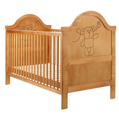 Obaby B is for Bear Cot Bed in Country Pine