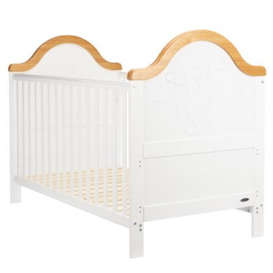 Obaby B is for Bear Cot Bed in White