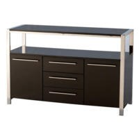 GRADE A2 - Seconique Charisma High Gloss 2 Door Sideboard in Black