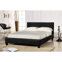 Seconique Prado Upholstered Double Bed in Black