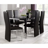 Julian Bowen Tempo Dining Set With 6 Chairs
