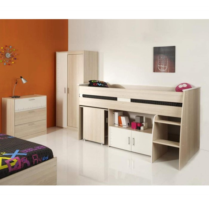 parisot meubles parisot charles midsleeper bed in modern. Black Bedroom Furniture Sets. Home Design Ideas