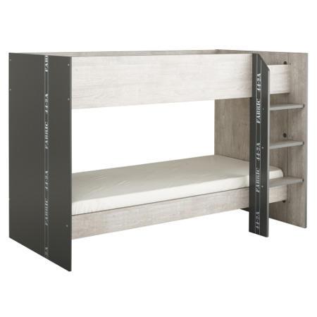 Parisot Fabric Bunkbed In Grey Loft And Dark Grey Furniture123