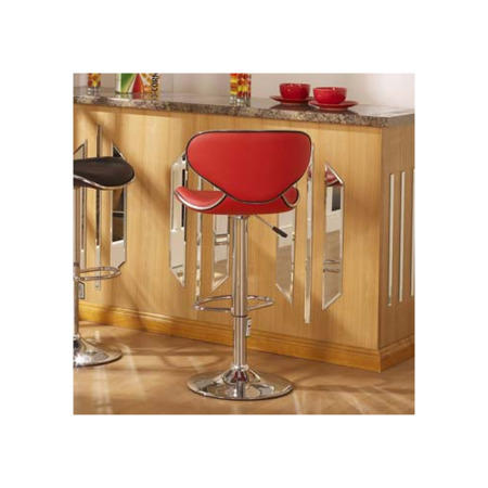 Seconique Bahama Swivel Gas Lift Bar Stool In Red Pair