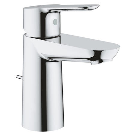 Grohe BauEdge Mono Basin Mixer Tap with Pop-up Waste