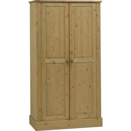 Steens balmoral solid pine 2 door wardrobe furniture123 for Furniture 123 wardrobes