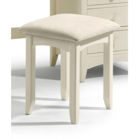 Julian Bowen Cameo Dressing Table Stool in Stone White