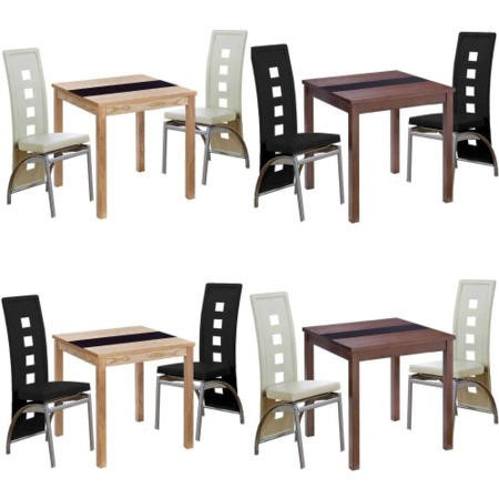 Mountrose Hudson Dining Table And Chairs In Walnut And