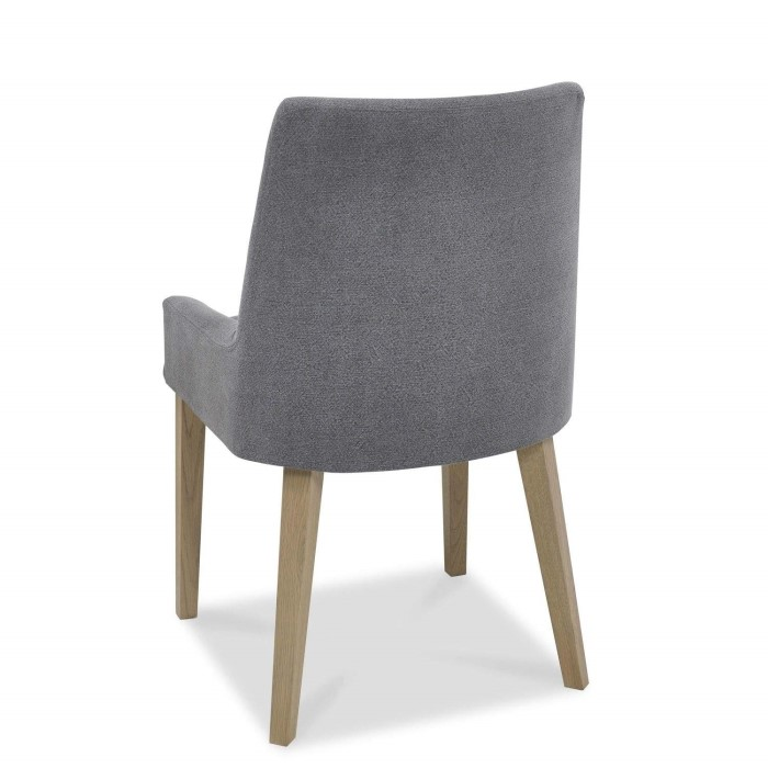 Bentley Designs Turin Aged Oak Scoop Back Chair Slate