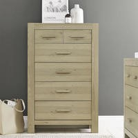 GRADE A3 - Bentley Designs Turin Aged Oak 4+2 Drawer Chest