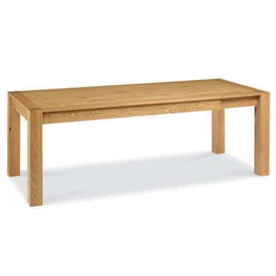 Bentley Designs Lyon Oak 6 8 Seater Extending Dining Table