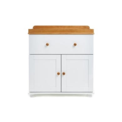 Obaby Closed Changing unit in White With Pine trim