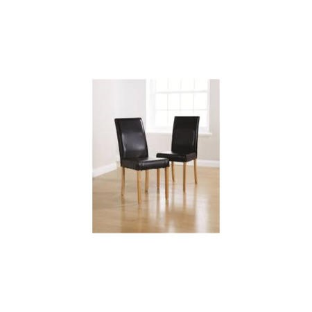 Mountrose moterrey pair of faux leather dining chairs in for Furniture 123 code