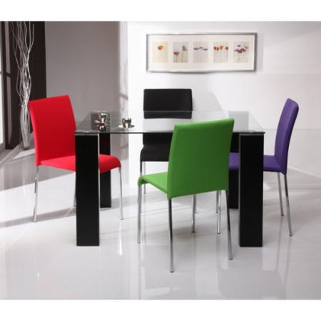 Etonnant Clearance   Wilkinson Furniture Espirit Glass Top Dining Table   Moderate  Cosmetic Damage