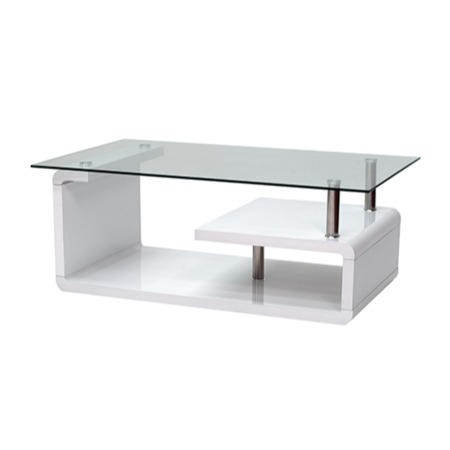 Wilkinson furniture isis white coffee table with glass top for Furniture 123 code