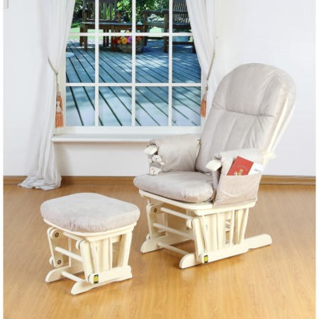 Swell Tutti Bambini Gc35 Deluxe Recliner Glider Chair And Stool In Vanilla Creativecarmelina Interior Chair Design Creativecarmelinacom