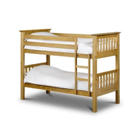 Clearance Julian Bowen Barcelona Solid Pine Bunk Bed Moderate