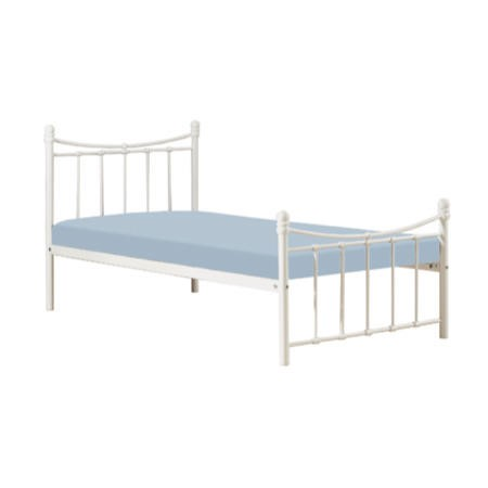 Clearance sophia ivory metal bed single furniture123 for Furniture 123 code