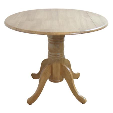 Furniture Link Norway Natural Oak Round Drop Leaf Dining Table