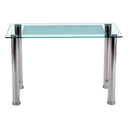 Furniture link horizon frosted glass dining table 70cm x 120cm table furniture123 - Frosted glass dining tables ...