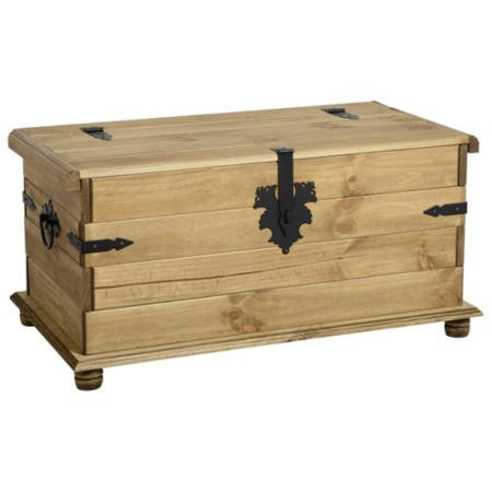 Seconique Original Corona Pine Blanket Box