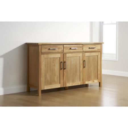 Mountrose Buckingham Solid Oak 3 Door Sideboard Furniture123