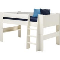Steens White Kids Continental Single Mid Sleeper with Ladder